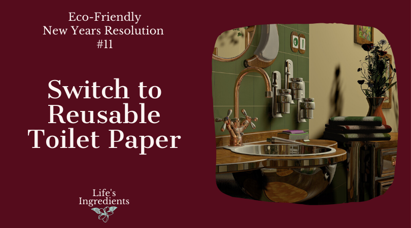 Eco-Friendly New Years Resolution Reusable Toilet Paper